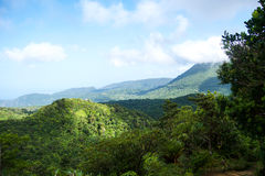 Dominica Boiling Lake Hike Landscape royalty-vrije stock afbeelding