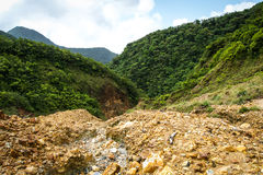Dominica Boiling Lake Hike Landscape stock afbeelding