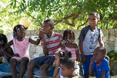 Dominica children Royalty Free Stock Photo