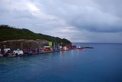 Dominica. A cloudy day on the tiny island of Dominica royalty free stock photo