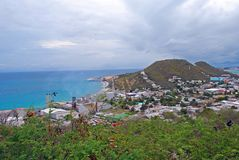 Dominica. A cloudy day on the tiny island of Dominica stock photo