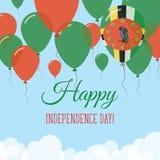 Dominica dnia niepodległości mieszkania kartka z pozdrowieniami Obrazy Royalty Free