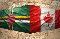 Dominica en Canada royalty-vrije illustratie