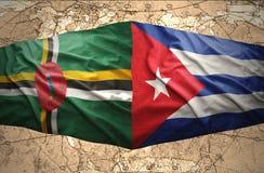 Dominica en Cuba vector illustratie