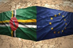 Dominica en Europese Unie royalty-vrije illustratie