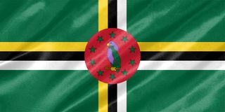 Dominica Flag lizenzfreie stockfotografie