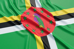 Dominica Flag Stock Afbeelding