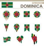 Dominica Flag Collection illustration libre de droits