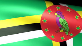 Dominica Flag Waving libre illustration