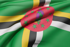Dominica Flag Waving Photos stock