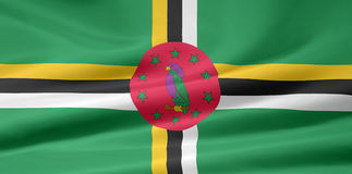 dominica flaga Zdjęcia Royalty Free