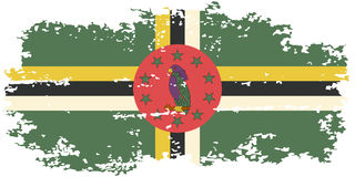 Dominica grunge flag. Vector illustration. Royalty Free Stock Images