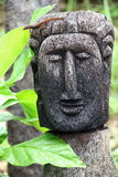Dominica Carved Head Royalty Free Stock Photography