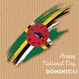 Dominica Independence Day Patriotic Design Immagine Stock Libera da Diritti