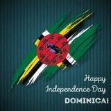 Dominica Independence Day Patriotic Design Fotografia Stock Libera da Diritti