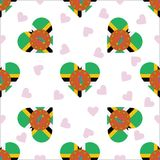 Dominica Independence Day Seamless Pattern Immagini Stock