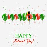 Dominica Independence Day Sparkling Patriotic illustration libre de droits