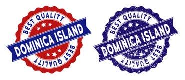 Dominica Island Best Quality Stamp com efeito da poeira ilustração do vetor