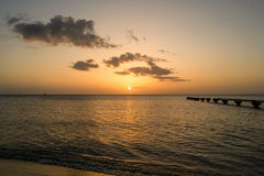 Dominica Island Sunset Royaltyfri Foto