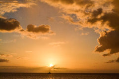 Dominica Island Sunset Royaltyfria Foton