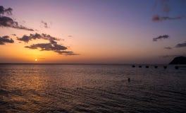 Dominica Island Sunset stock image