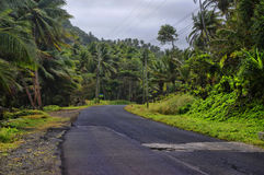 Dominica, Lesser Antilles. The road to Pagua bay on Dominica island, Lesser Antilles royalty free stock image