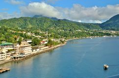 Dominica oceanfront views 5. View of the beautiful island of Dominica in the Caribbean stock photos