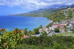 Dominica -panorama of Mero village Royalty Free Stock Photography
