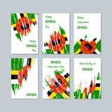 Dominica Patriotic Cards für Nationaltag vektor abbildung