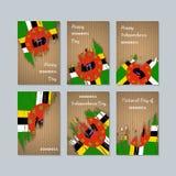 Dominica Patriotic Cards para o dia nacional ilustração royalty free
