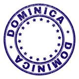 DOMINICA Round Stamp Seal texturisée grunge illustration de vecteur