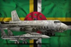 Dominica si?y powietrzne poj?cie na stan flagi tle ilustracja 3 d fotografia royalty free