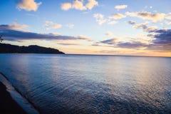 Dominica Sunset Landscape Stock Afbeeldingen