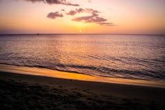 Dominica Sunset Landscape royaltyfri foto