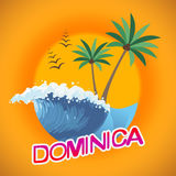 Dominica Vacation Indicates Summer Time et Dominique Photos stock