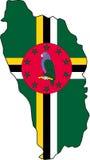 Dominica-Vecteur de carte illustration libre de droits