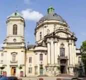 Dominicaans kerk en klooster in Lviv, de Oekraïne Stock Afbeeldingen
