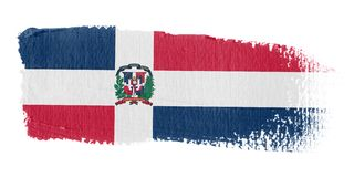 Dominicaans Rep van de Vlag van de penseelstreek Royalty-vrije Stock Afbeelding