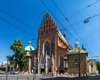 Dominicaanse Basiliek van de Heilige Drievuldigheid in Krakau, Polen Royalty-vrije Stock Foto