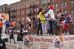 Dominicaanse de Dagparade 58 van Bronx van 2015 Stock Foto's