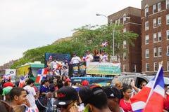 Dominicaanse de Dagparade 91 van Bronx van 2015 Stock Foto's
