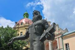 Dominicaanse Kerk - Lvov, de Oekraïne Royalty-vrije Stock Foto