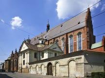Dominicaanse Kerk van de Heilige Drievuldigheid in Krakau polen Royalty-vrije Stock Foto's