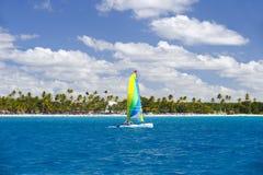 Dominicaanse Republiek, de Cara?bische Zee, de zonnige stranden van Saona-Eiland stock afbeelding
