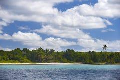Dominicaanse Republiek, de Cara?bische Zee, de zonnige stranden van Saona-Eiland stock fotografie