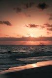 Dominicaanse republiek, het strand van Punta Cana, zonsopgang Royalty-vrije Stock Fotografie