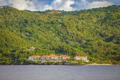 Dominicaanse Republiek Mening van het Eiland Cayo Levantado op Th royalty-vrije stock afbeeldingen