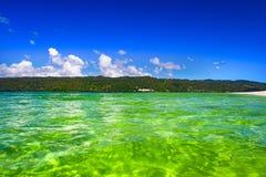 Dominicaanse Republiek Mening van het schiereiland van Samana van bea royalty-vrije stock afbeelding