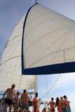 Dominicaanse Republiek - 10 Oktober, 2012: partij op de boot tijdens de reis op het eiland Stock Fotografie