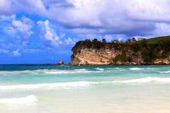Dominicaanse Republiek, Playa Macao, Blauw water stock fotografie